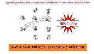 Apple-Macbook-Pro-A1502-A1398-A1425-bottom-Base-case-Screws-10-pcs-screw-set-UK