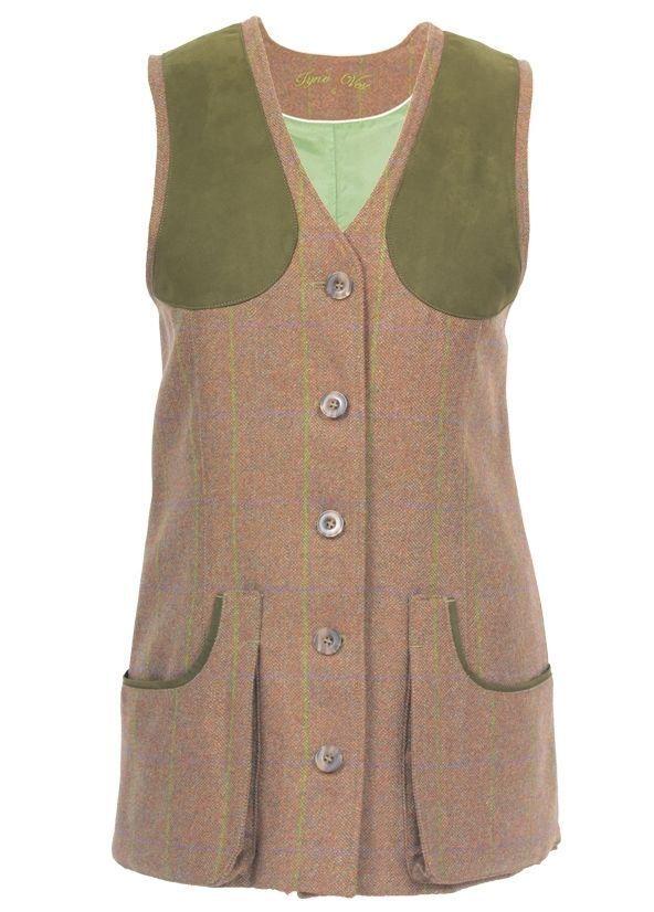 Laksen Ladies Tyne Tweed Shooting Waistcoat Vest