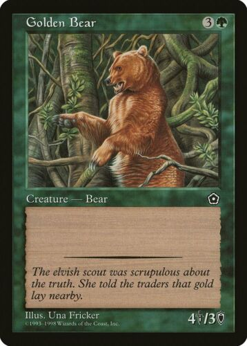 Golden Bear Portal Second Age PLD Green Common MAGIC GATHERING CARD ABUGames