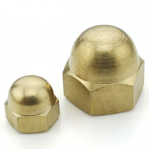 M3M4M5M6M8M10M12M20 SOLID BRASS HEX DOME NUTS ACORN CAP NUTS FOR BOLTS /& SCREWS