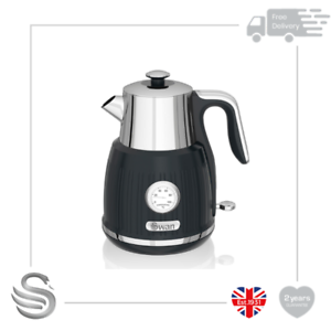 1.5l jug kettle black , black, Swan