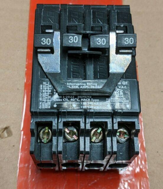Q23030 Siemens Quad Circuit Breaker For Sale Online