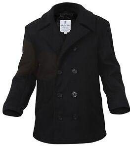 Usn Pea Navy Militar 7070 Us Coat Réplica Negro Lana Style Rothco aOwqr4ga