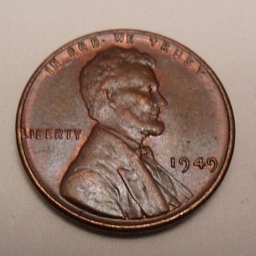 Penny Coin   *FINE OR BETTER*  **FREE SHIPPING** 1949 P Lincoln Wheat Cent