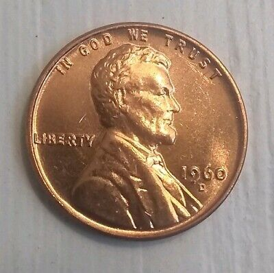 ONE BU 1960-D Lincoln Memorial Cent Roll Full 50 Coin Uncirculated Roll