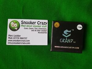 10mm-Grand-Soft-Snooker-amp-Pool-Tips-1st-Class-Postage
