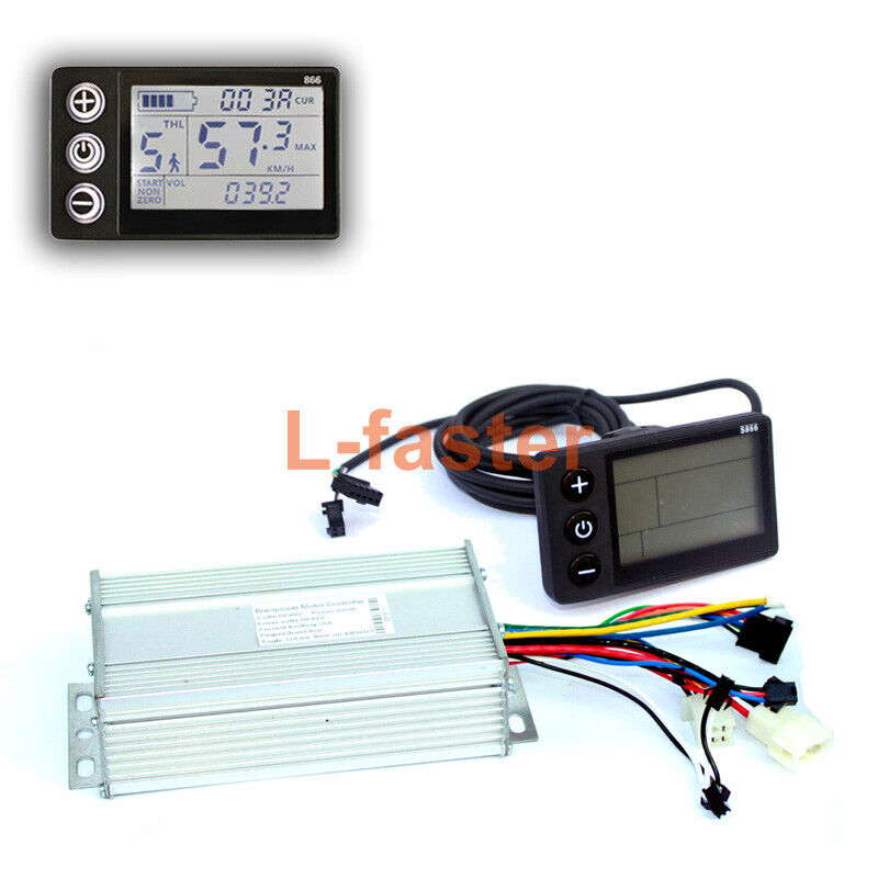 450W1000W Electric Bike Brushless Motor  Controller With LCD Display  after-sale protection