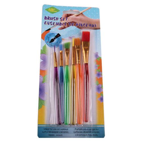 6X//Set Art Painting Brushes Acrylic Oil Watercolors Artist Paint Brush Dulcet FG