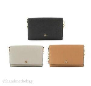 Tory Burch (52899) Saffiano Leather Emerson Chain Wallet Crossbody Hand Bag