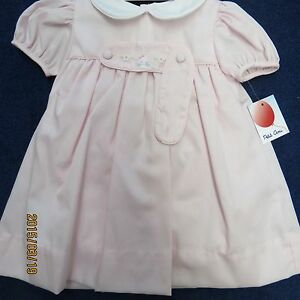 Pet ami Dress 3 months, pink with white collar, new w/tags, and panty
