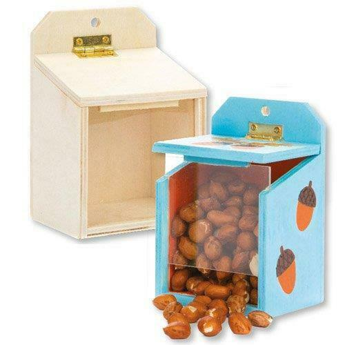 Wooden Squirrel Feeder Boxes Box Of 2