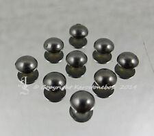 50 Hotfix  Nieten Bügelnieten  Black Nickel  5 mm rund Jeans Karostonebox