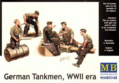 Master Box 1/35 German Tankmen Models & Kits Wwii Era # 35160 Be Friendly In Use