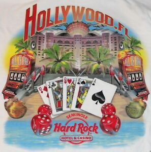 Hard-Rock-Hotel-HOLLYWOOD-FL-2011-City-Tee-T-SHIRT-Men-White-XXL-2X-New-w-Tags