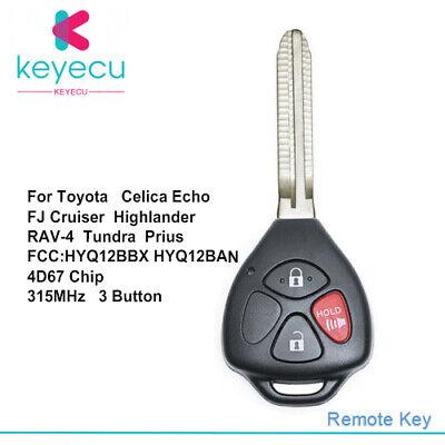 HYQ12BBX HYQ12BAN Upgraded Remote Key Fob for Toyota Tundra Echo 2004-2006