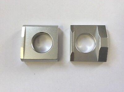 SILVER Chain Adjusting Blocks Suzuki GSXR600 97-10 GSXR750 96-10 GSXR1000 01 on