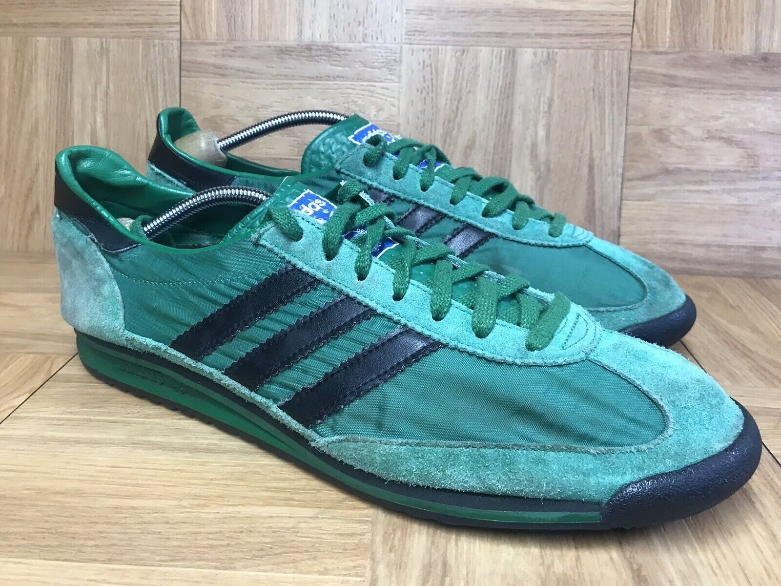 RARE Adidas Originals SL72 Vintage Green Retro Trainers Racers SZ 11 shoes