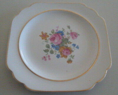 MINOR FLAWED ANTIQUE//VINTAGE DINNER PLATE BY KEYSTONE CANONSBURG POTTERY COMPANY
