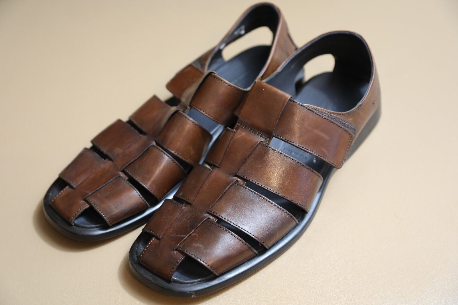 To Boot New York Barbados Fisher Leather Sandals Size