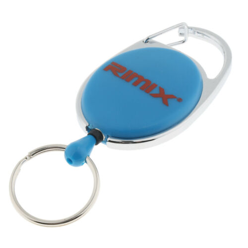 Retractable Keychain Badge Reel Recoil Holder Heavy Duty Carabiner Anti Lost