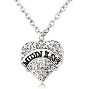 Family-Love-Middle-Sis-Gifts-Fashion-Charm-Women-Crystal-Heart-Pendant-Necklace