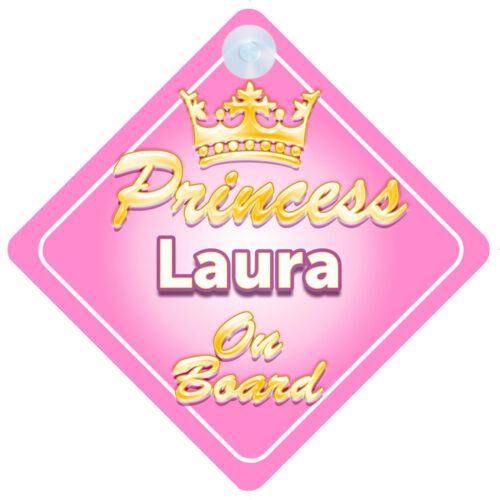 La princesse laura à bord personnalisé bébé fille VOITURE SIGNE
