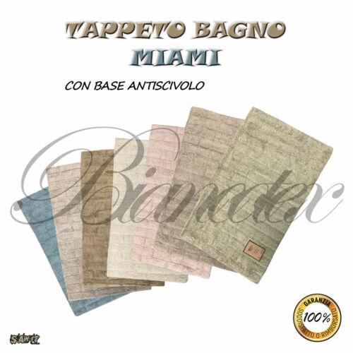 TAPPETO BAGNO MIAMI HOME DESIGN 100/% COTONE MULTICOLORE ANTISCIVOLO 50X80CM CASA