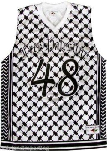 "/""Palestine libre/"" Maurice keffieh Basketball Jersey protestation Shirt"
