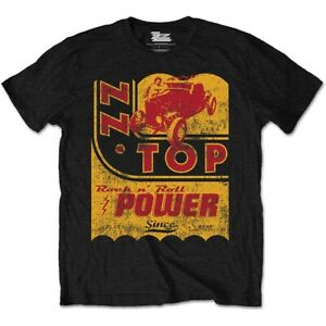 ZZ-TOP-Power-Oil-Mens-T-Shirt-Unisex-Tee-Official-Licensed-Band-Merch