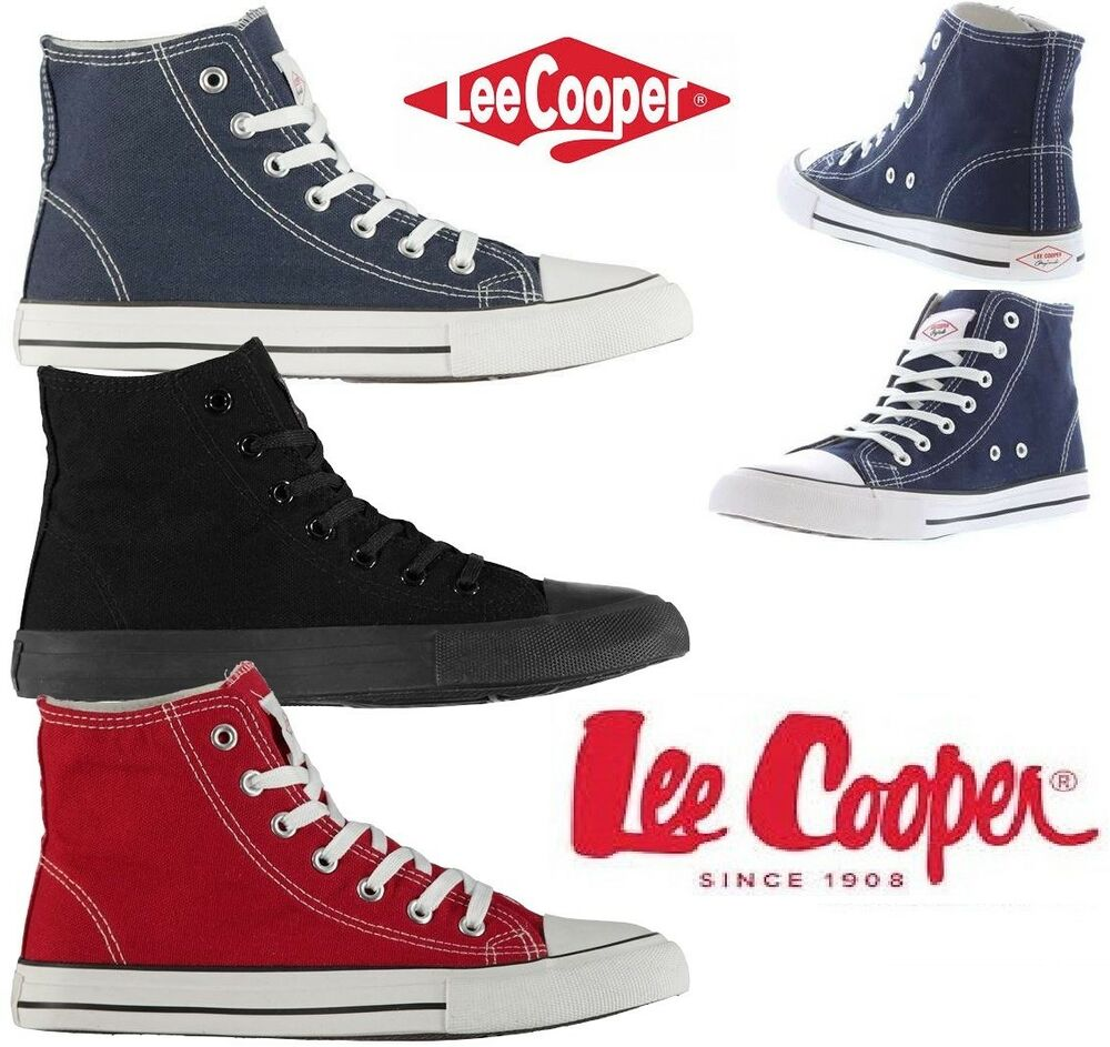*promotion* Chaussures Montantes En Toile Baskets Homme Lee Cooper Du 41 Au 45