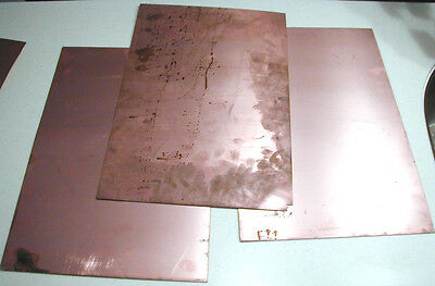 Copper backed .062 thk NOS Duroid MW PCB Material type 6010 .025 thk 6x6 Sheet