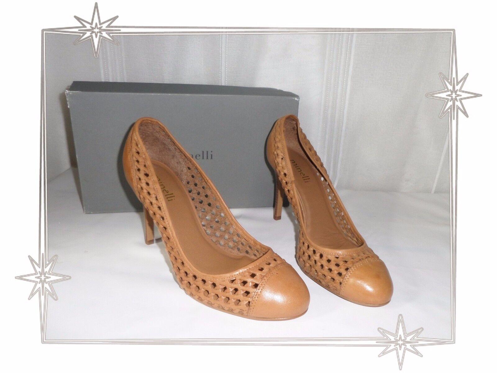 D-marrón zapatos pumps open minelli zapatos Talla 39 new