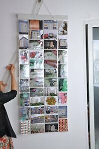 Photo Album Picture Pockets Photo Hanging Display, 40 Pockets with 80 Photo, Cle