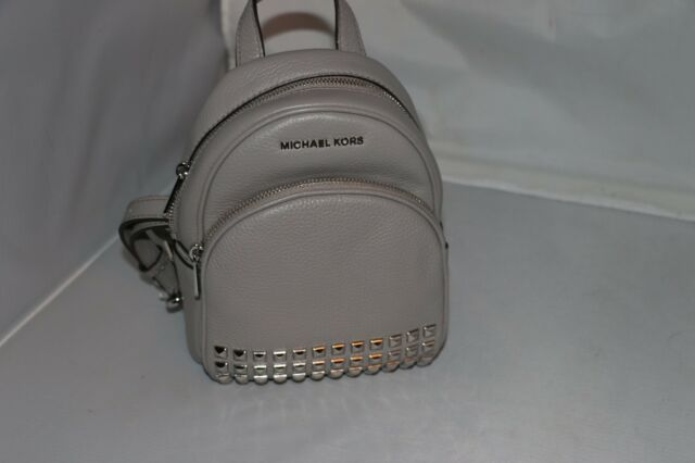 aaed3095a554 Michael Kors Leather Abbey XS Studded Backpack 35t7sayb1l in Pearl ...