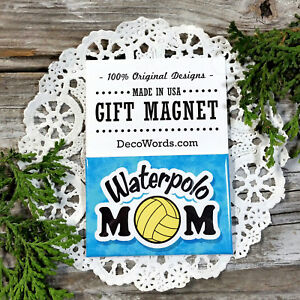 Waterpolo-Mom-Gift-Fridge-Magnet-DecoWords-H2o-Polo-Water-polo-pool-water