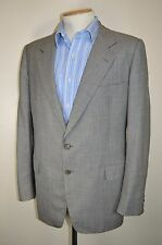 """vtg BURBERRY LIGHT GREY WOOL COUNTRY SUIT SMART JACKET BLAZER size 42"""" CHEST"""