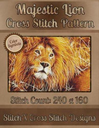Majestic Lion Cross Stitch Pattern, Paperback by Warrington,