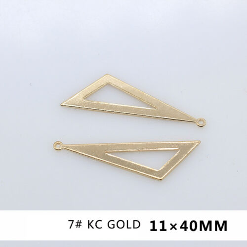 10p Silver Gold Plated Copper Base Metal Earring Making Jewelry Finding Pk-style