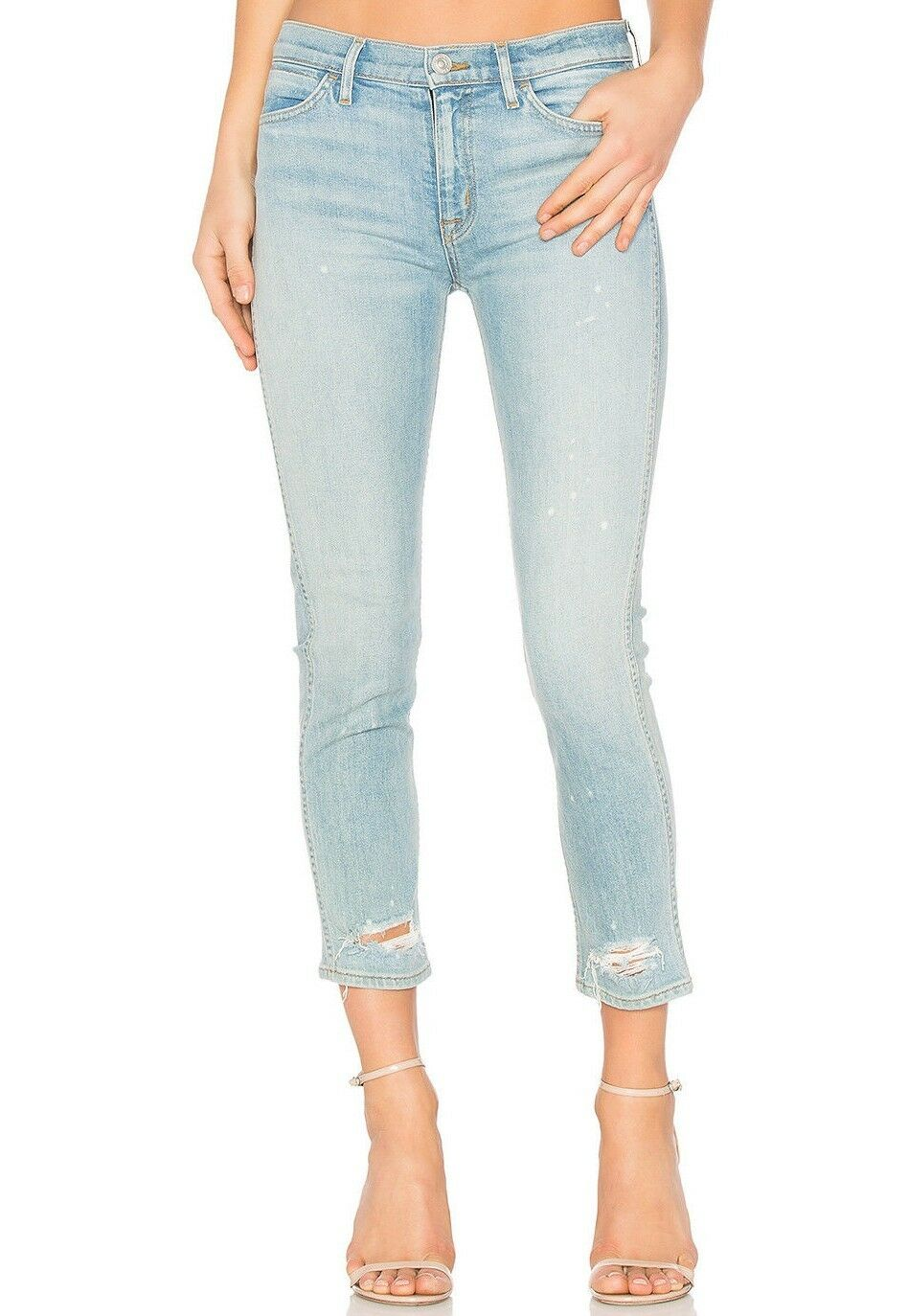 215 NWT HUDSON Sz26 SAVY CROP MIDRISE STRAIGHT STRETCH JEANS REVOLUTIONARY