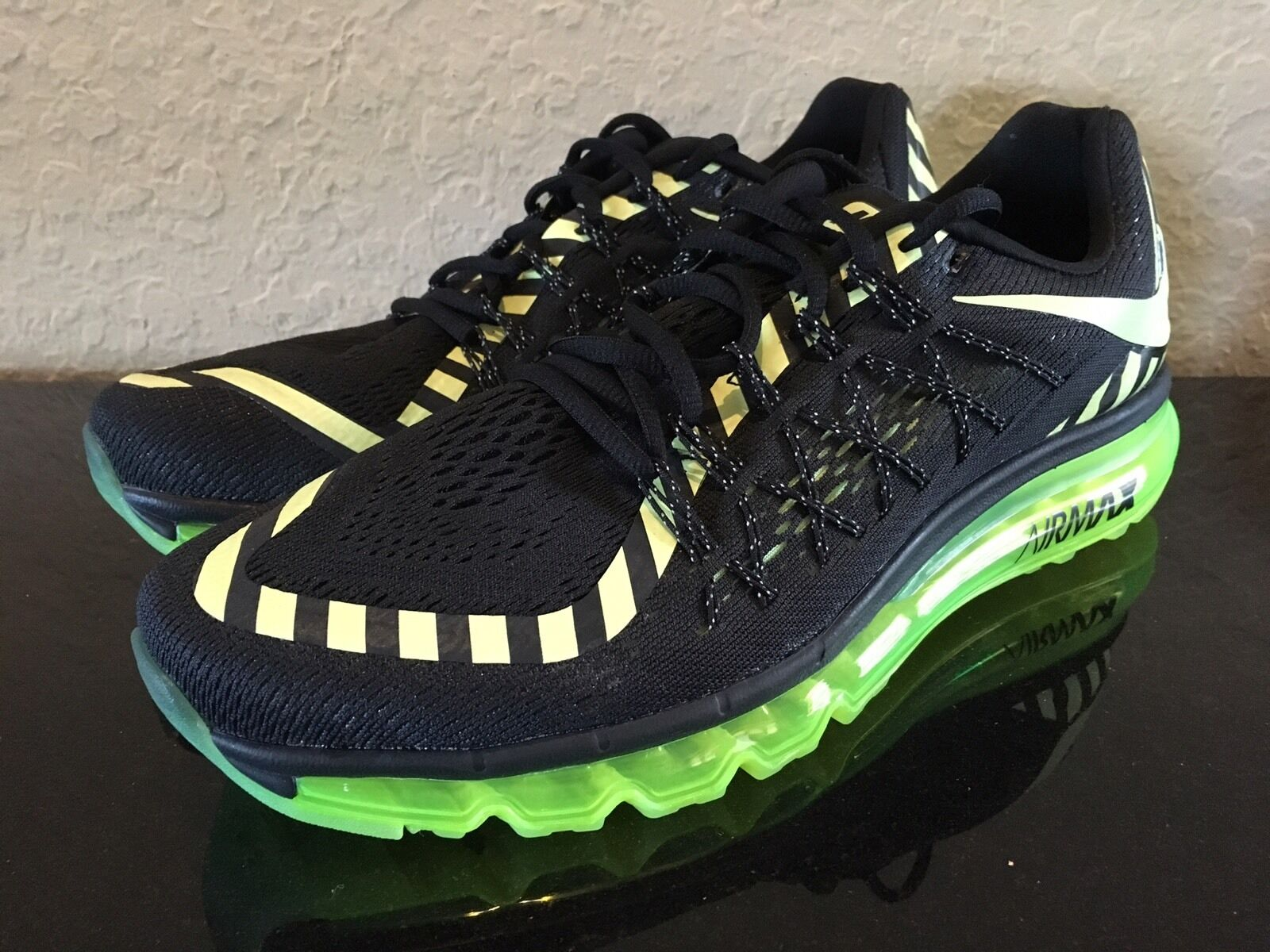 Men's Nike Air Max  Running Shoes - Volt-Black