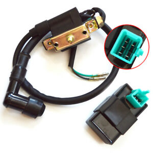 Ignition Coil with 5 Pin CDI Box Replacement Parts Fit for Kazuma Meerkat 50 50CC Kids ATV Falcon 90CC 110CC ATV