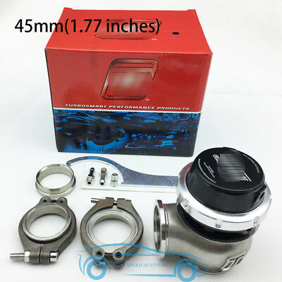 Black,Hyper-Gate 45mm External Wastegate Turbo Charger Exhaust Gas Bypass Valve