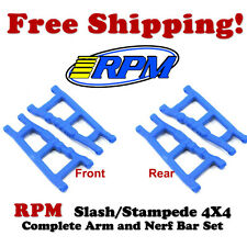 RPM 80705 Front and Rear Suspension A-Arms (4) Blue Traxxas Slash / Stampede 4x4
