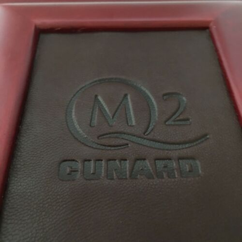 NEW Cunard QM2 Queen Mary 2 Cruise Photo Picture Album Book Wood Embossed Leathe