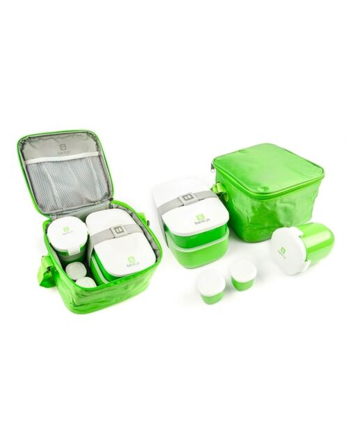 e05b13a0dc65 BPA Free 6-Piece Bento Lunch Box Set With Utensils For Kids And Adults