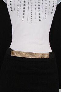 Kleidung & Accessoires Begeistert Damengürtel Mode Gold Metallplatte Hüfte Taille Schwarz Silber Bling Glasiert Klar Und GroßArtig In Der Art