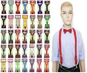 Suspender-and-Bow-Tie-Set-for-Baby-Toddler-Kids-Boys-Girls-Child-USA-Seller
