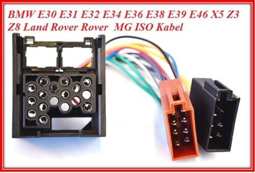 Iso Din Câble pour E30 E36 E46 E34 E39 E32 E38 E31 X5 Fiche Autoradio