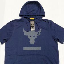 Men/'s Under Armour Project Rock Terry Short Sleeve Hoodie Size 2XL XXL  #1345818