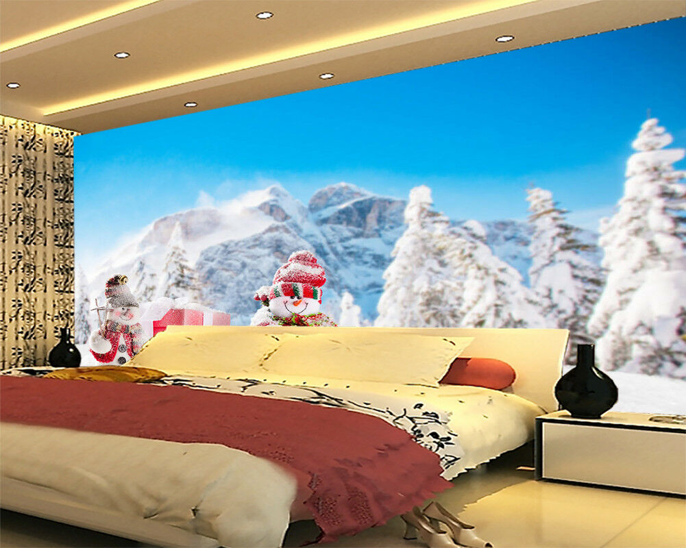 Top Of Snow Mountain 3D Full Wall Mural Photo Wallpaper Printing Home Kids Decor